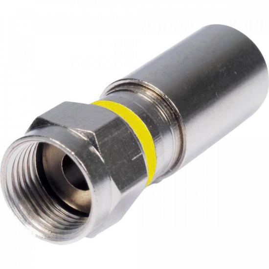 Conector F de Compressão RG6 CFMP0002 STORM - PCT / 100