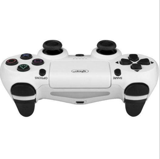 Controle com Fio DuploShock PS4 Knup KP-4028 Branco