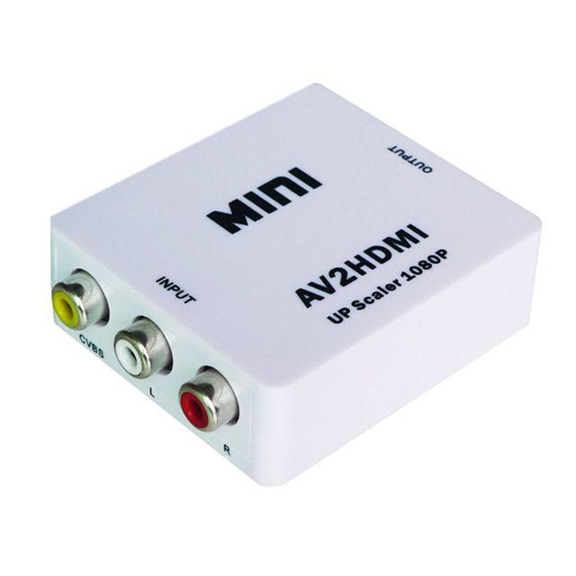 Conversor de AV RCA Audio Video p/ HDMI Full HD 1080p AV2HDMI