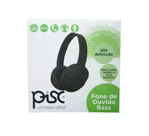 Fone De Ouvido Com fio Bass Preto Pisc 18101
