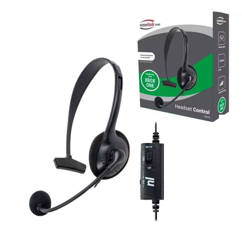 Fone Headset Control Box One NewLink Game HS210