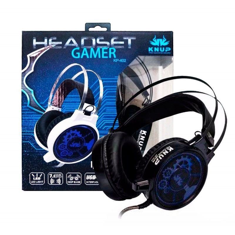 Fone Headset Gamer com Microfone Knup KP-402