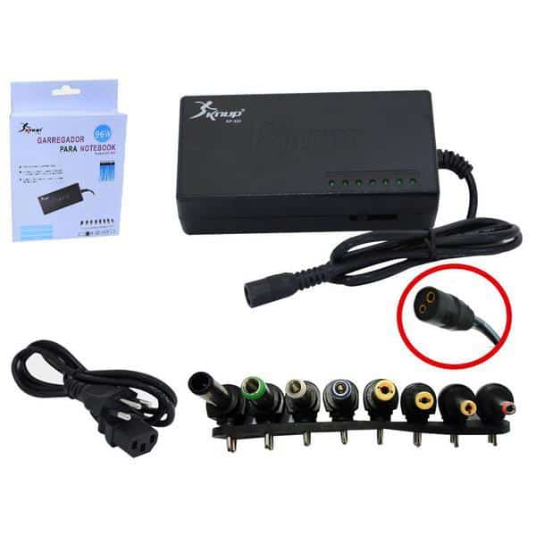 Fonte Universal Para Notebook 8 Plugs Diferentes Knup 525