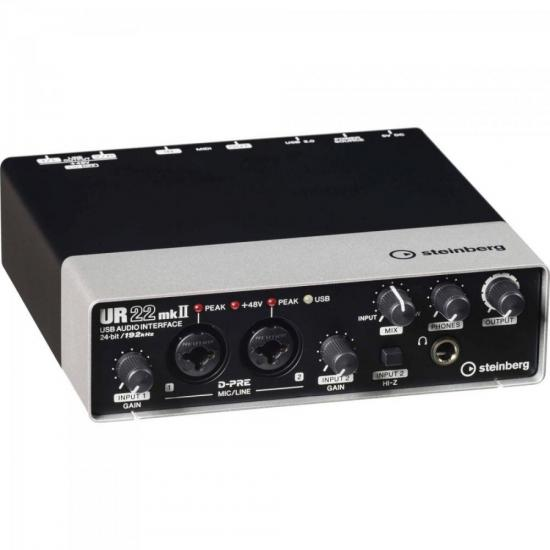 Interface de Áudio UR22-MKII Preta STEINBERG