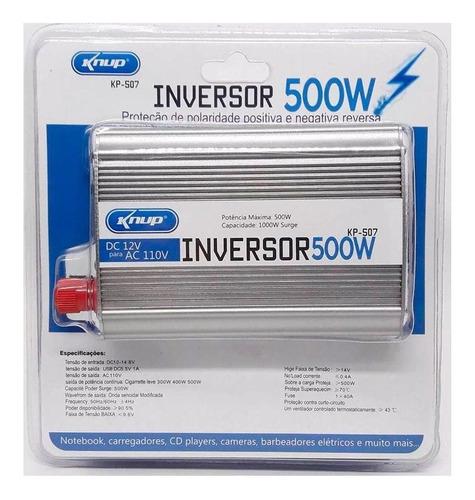 Inversor Knup 500w 12v Para 110v Conversor De Energia Kp-507