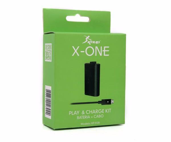 Carregador e Bateria Controle Xbox One Knup KP- 5128