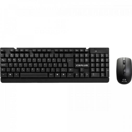 Kit Teclado + Mouse sem Fio K-W11BK Preto C3TECH
