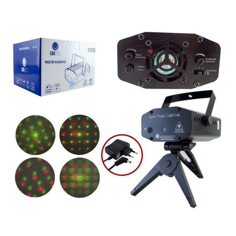 Projetor Laser holográfico com Desenhos de Luz LuaTek LK-173A