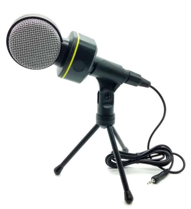 Microfone Condensador com Tripé Sf-930