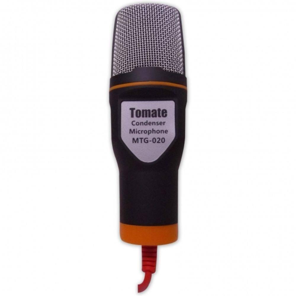 Microfone Condensador com Tripe MTG 020 Tomate