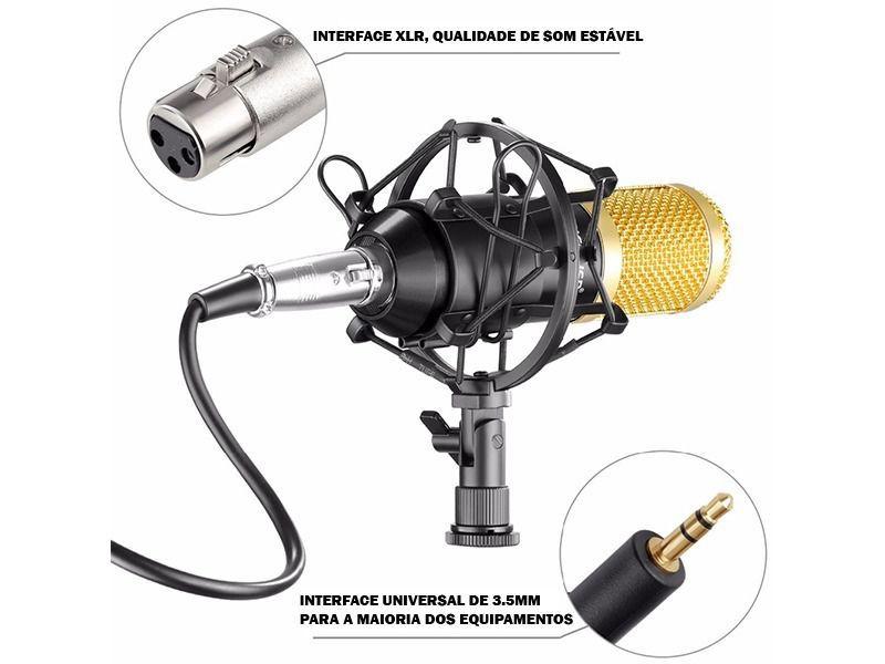 Microfone Condensador Microphone Andowl No-7451