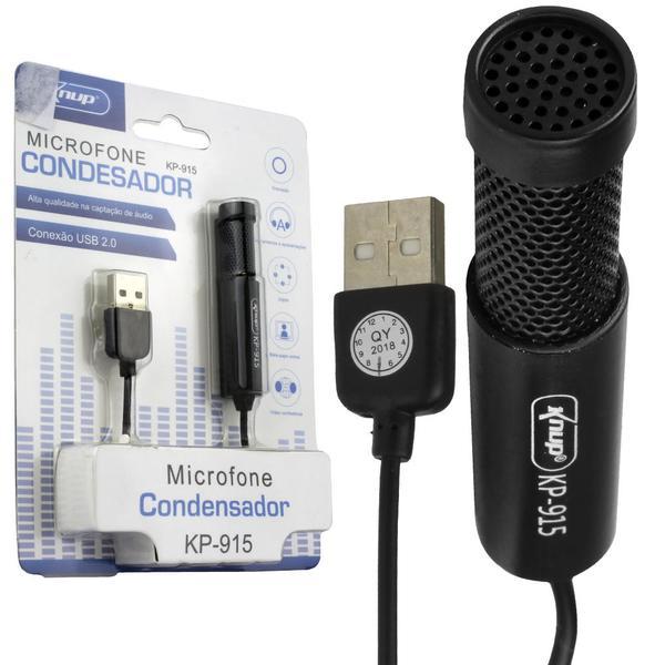 Microfone Condensador USB 2.0 Knup KP-915