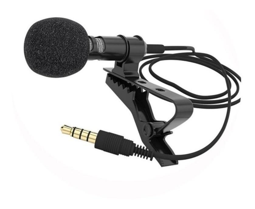Microfone Lapela com Condensador - Para Celular e Câmeras By-m1