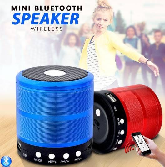 Mini Caixinha de Som Bluetooth, USB Speaker WS - 887