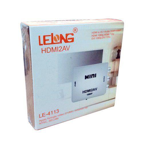 Mini Conversor Hdmi x Av Lelong Le-4113
