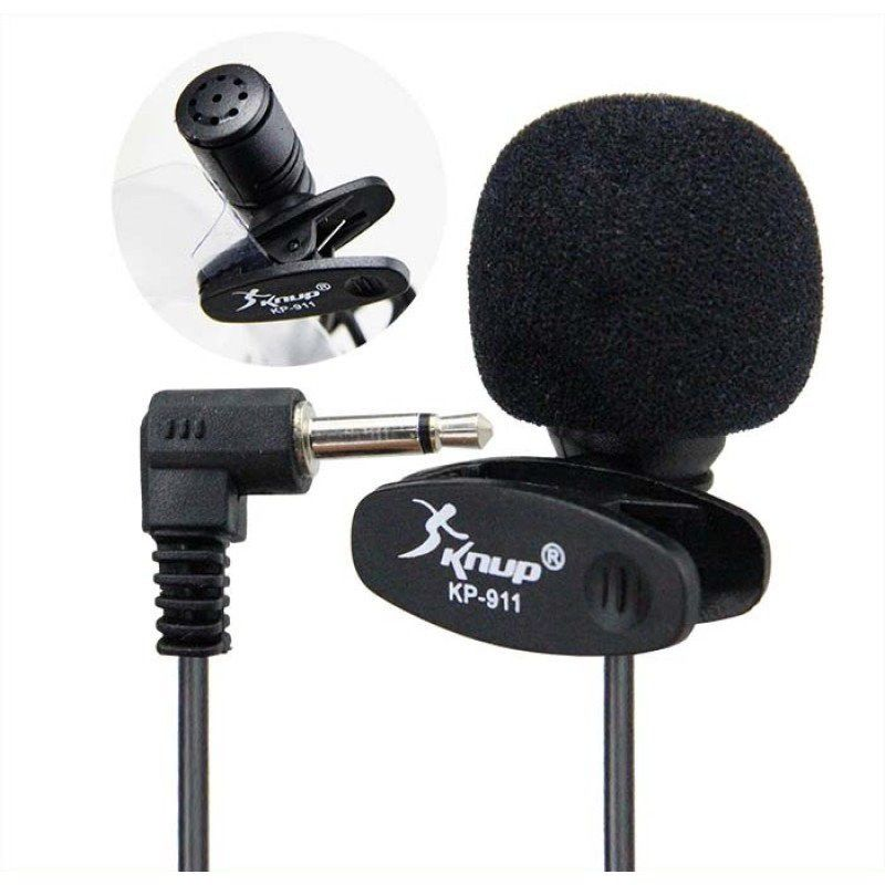 Mini Microfone de Lapela KP 911