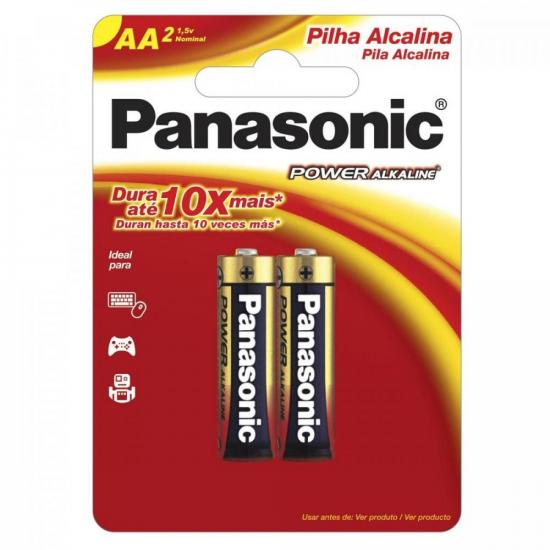Pilha Alcalina AA 1,5V LR6XAB/2B192 PANASONIC (Cartela com 2 Unid.) - CAR / 2