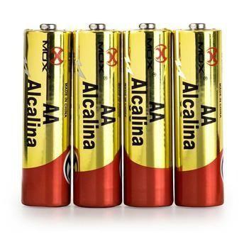Pilha Alcalina AA Cartela c/4 MO-AAC4ALK Mox