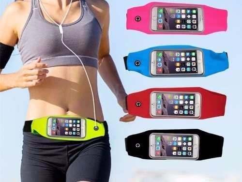 Pochete para Celular Fitness com Porta Celular Rosa