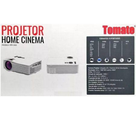 Projetor Home Cinema Portatil 120pol 700 Lumens - Tomate Mpr-3003