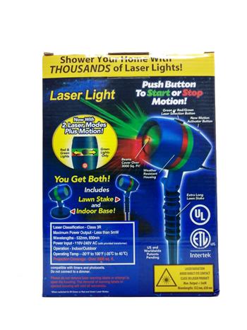 Projetor Laser Espeto de LED Bivolt para Jardim Star Shower Light IP65