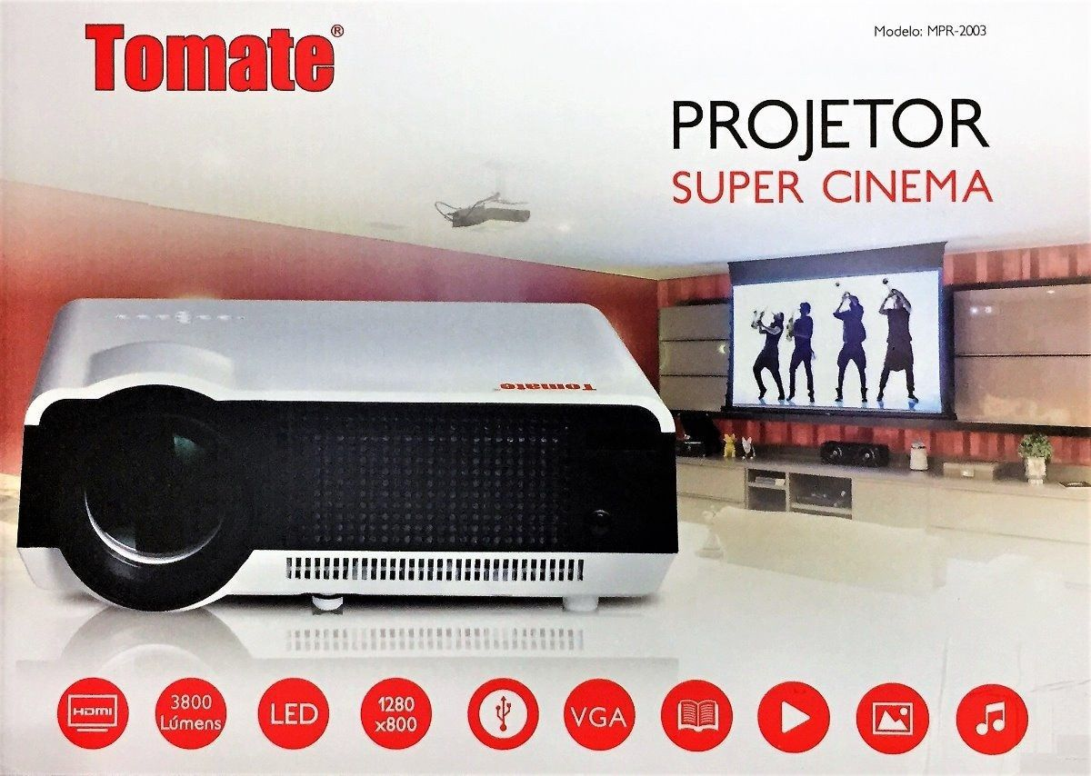 Projetor Super Cinema 3800 Lúmens MPR-2003 tomate