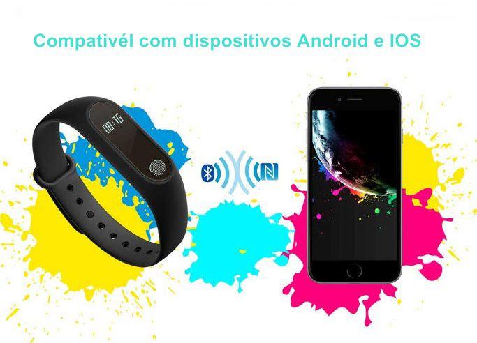 Relógio M2 Smartwatch Inteligente Medidor de Frequência