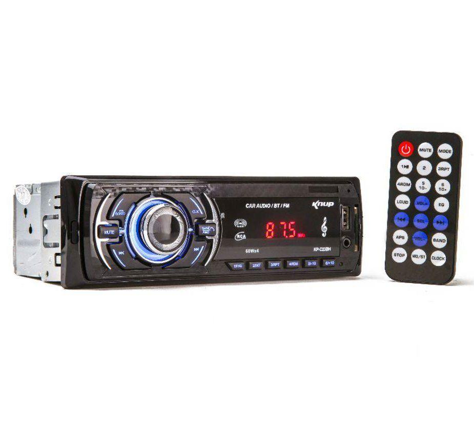 Som Automotivo com Bluetooth 60W X 4 Knup KP-C23BH