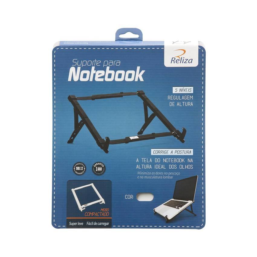 Suporte Regulável para Notebook Preto 1659 Reliza