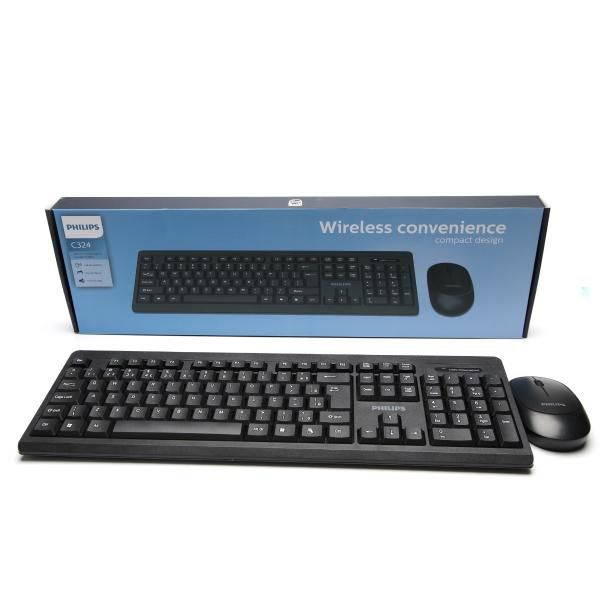 Teclado e Mouse Convenience Wireless 2.4ghz Philips Spt-6324