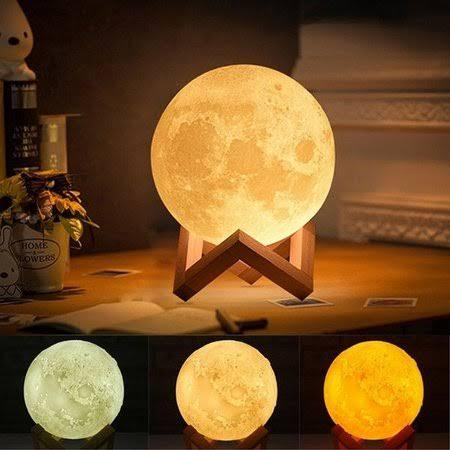 Umidificador Aromatizador e Luminária Lua Decorativa com Luzes 3D