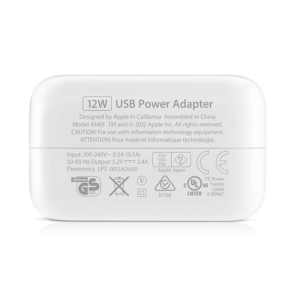 Fonte Usb 12w Original Apple Carregador Ipad Refurbished