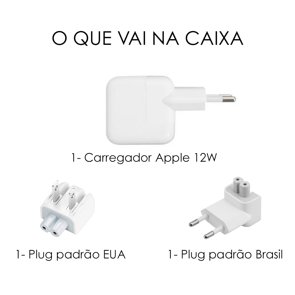 Fonte Usb 12w Original Apple Carregador Ipad Refurbished