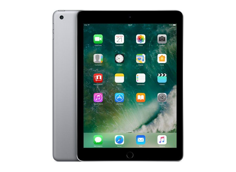 """iPad 9,7 """"5a geração Space Gray 128GB MP2G2LL/A Seminovo"""
