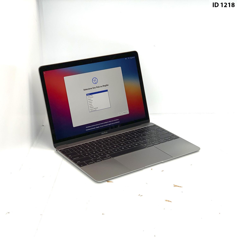 Macbook 12 Space Gray M 1.1Ghz 8GB 256GB SSD MLHA2LL/A Seminovo