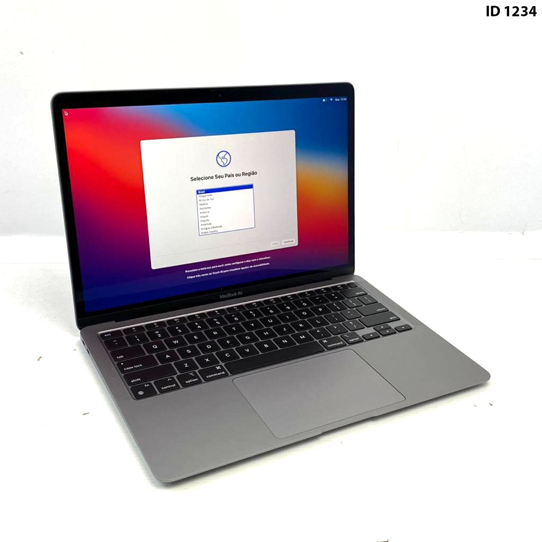 Macbook Air 13 Space Gray Apple M1 8GB 256gb SSD MGN63LL/A Seminovo
