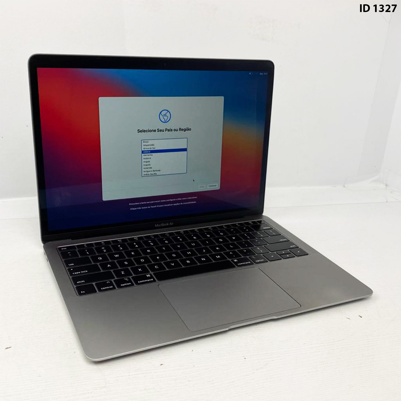 Macbook Air 13 Space Gray i5 1.6Ghz 8GB 256gb SSD MRE82LL/A Seminovo