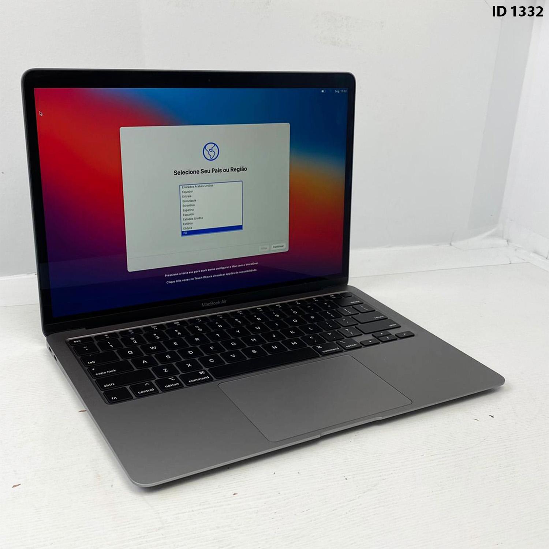 Macbook Air 13 Space Gray i7 1.2Ghz 16GB 512gb SSD BTO/CTO DO MVFH2LL/A Seminovo