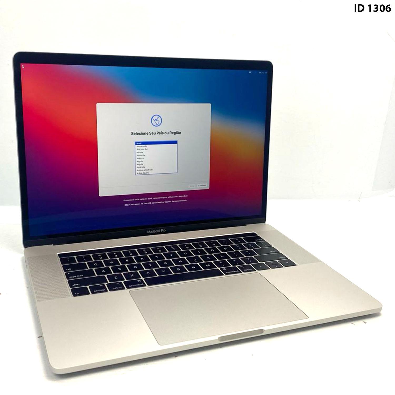 Macbook Pro 15 Silver i7 2.6Ghz 16GB 512GB SSD MR942LL/A Seminovo