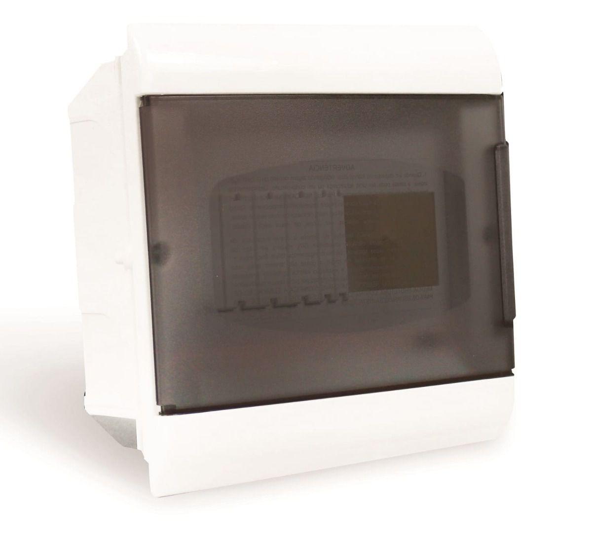 Centrinho embutir para 8 Disjuntores porta fumê SCM8TBR