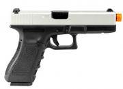 Pistola de Airsoft à Gás GBB Green Gás Glock R17 Silver Blowback 6mm - Army