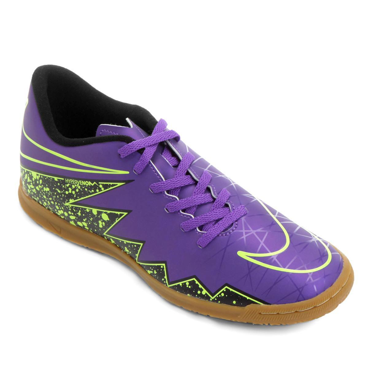 8130292b19f40 Chuteira Futsal Nike Hypervenom Phade 2 IC Masculina Roxo Preto