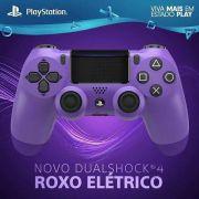 Controle Dual Shock 4 Roxo Eletrico