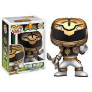 Funko Pop Ranger Branco Power Ranges 405 Bonecos Miniaturas