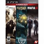 Jogo Power Pack 2K the darkness2 bioshock2 mafia2 semi novo Ps3