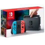 Nintendo Switch 96GB Controles Azul e Vermelho Novo