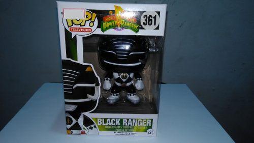Funko Pop Ranger Preto Power Ranges 361 Bonecos Miniaturas