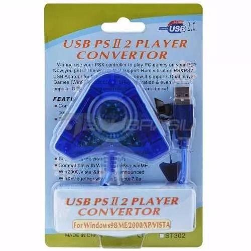 Adaptador Usb Para Controles Ps2 Para Pc