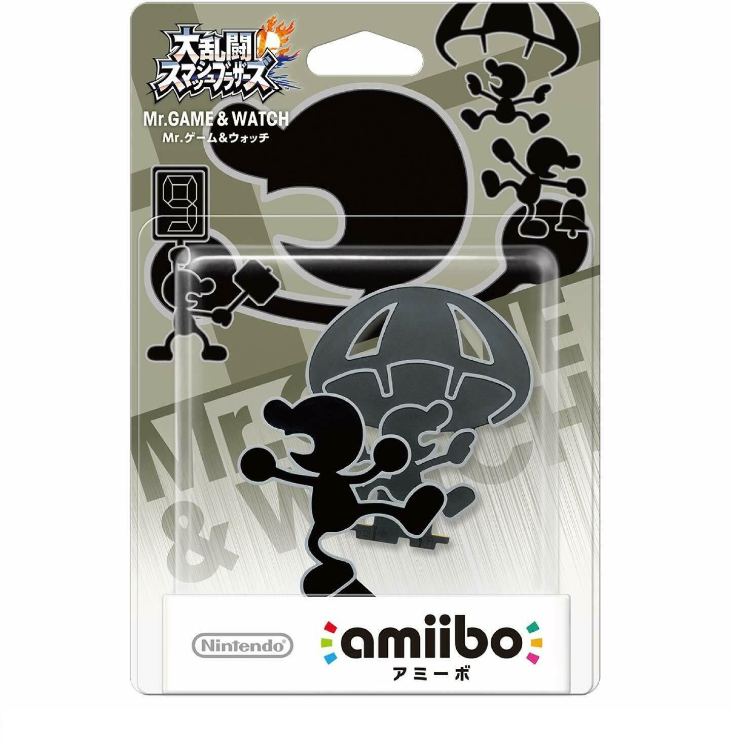 Amiibo Super Smash Bros Mr Game & Watch novo