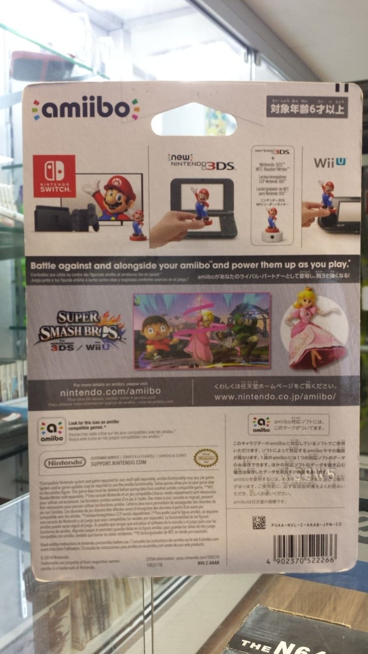 Amiibo Super Smash Bros Peach novo